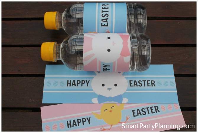 Enjoy some DIY craft with the kids this Easter. Printables are fantastic for livening all kinds of otherwise boring items. Imagine how excited the kids would be to take a water bottle with a fun Easter printable to school or kindy. It would make their day! They can also be used at any Easter party events you may be holding. Easy to download and use.