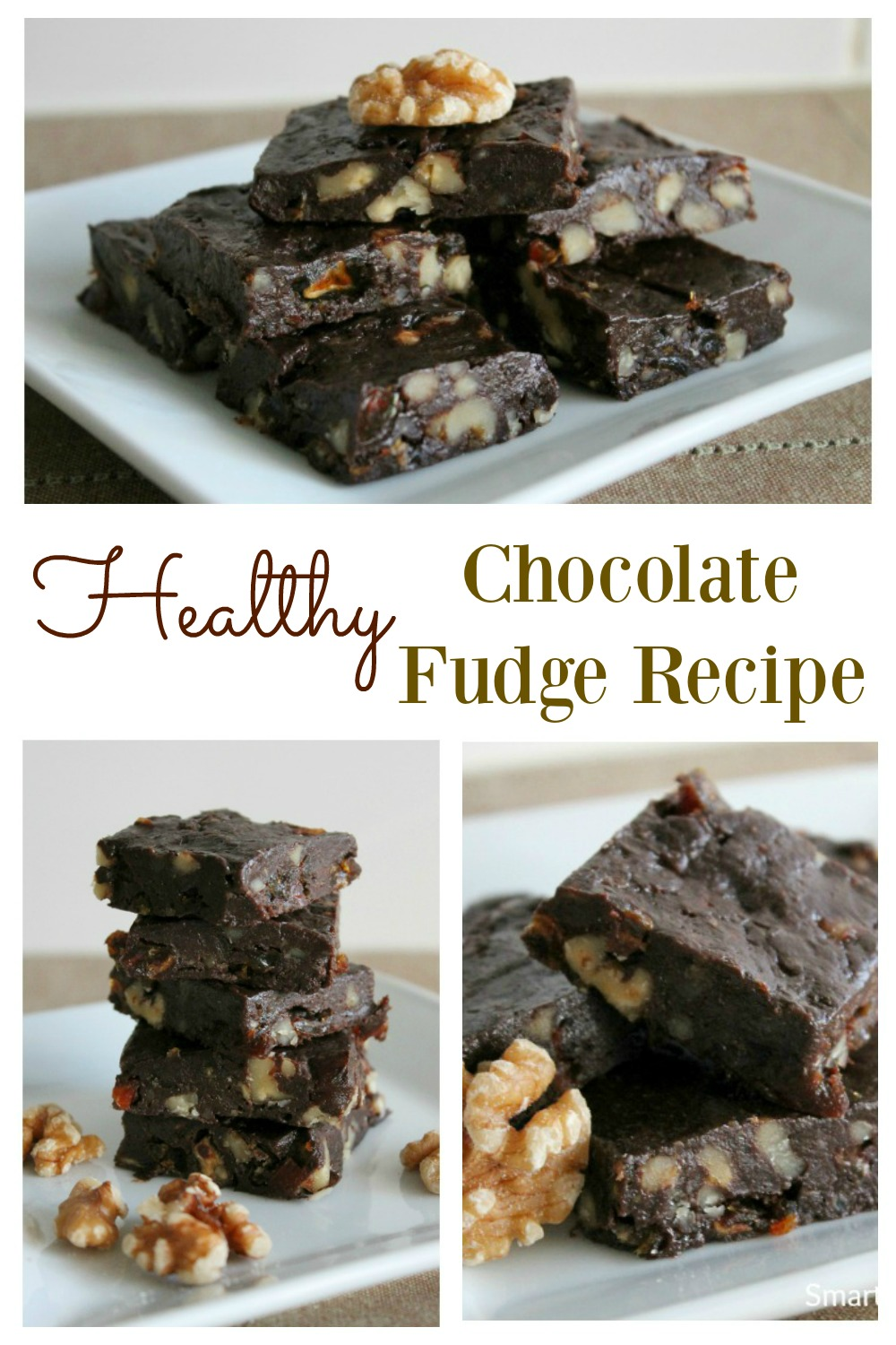 A simple healthy chocolate fudge recipe. Despite being healthy, it's rich and decadent.  It's easy to make, and tastes amazing. This is the best ever chocolate fudge that you can eat guilt free. The whole family will love it, that's if you want to share with the kids! Grab this recipe now or regret it.