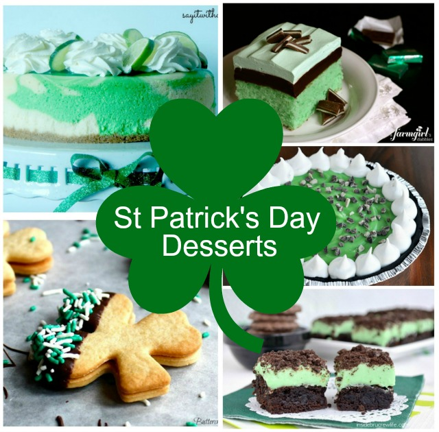 For this years St Patrick's Day why not go green! These deliciously tempting dessert recipes will cater for all the St Patrick's Day desserts that you need!