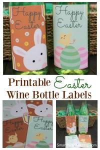 4 Easter wine bottle labels