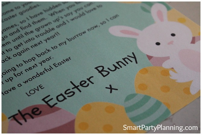 The Easter Bunny Letter