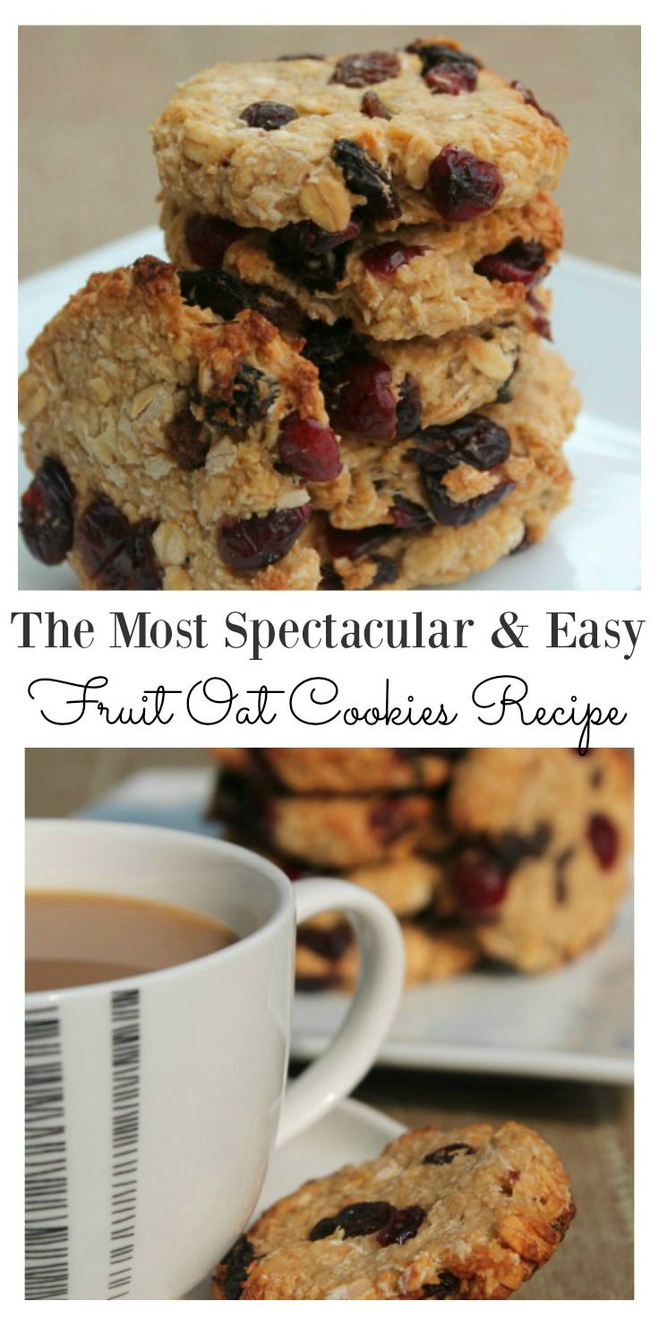 fruit oat cookies recipe