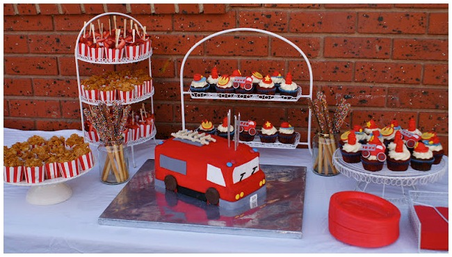 Fireman Birthday Party Ideas Desserts