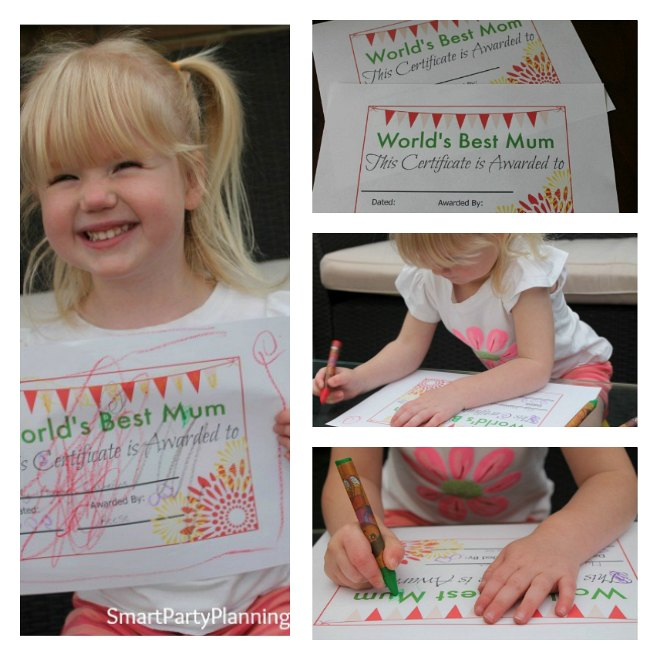 Fun mother's day certificate