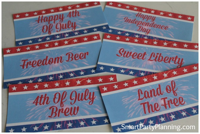 These 4th of July beer printables are perfect for your celebrations.  It is an easy DIY craft that will spruce up your party decoration.  They are easy to organize, great on the family budget and look fantastic.