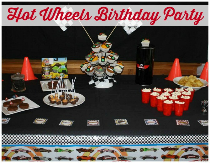 Hot Wheels Party Table