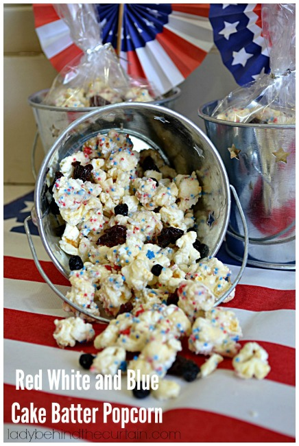 Red White Blue popcorn