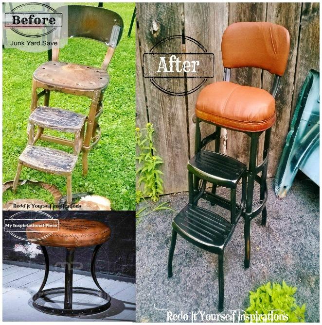 Junk Yard Step Chair Redo