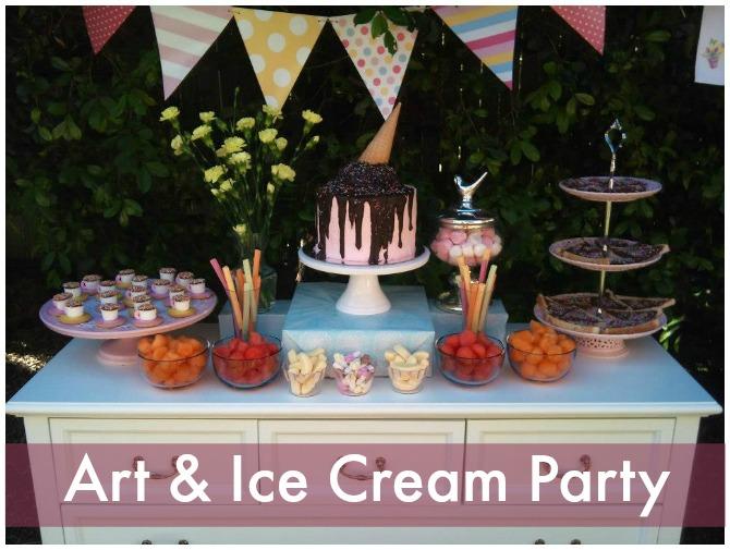 Art and ice cream party