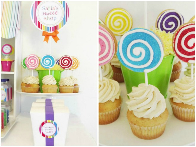Lollipop Cupcakes