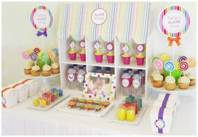 Sweet shoppe party design