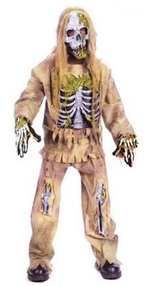 Kids Zombie Skeleton Costume