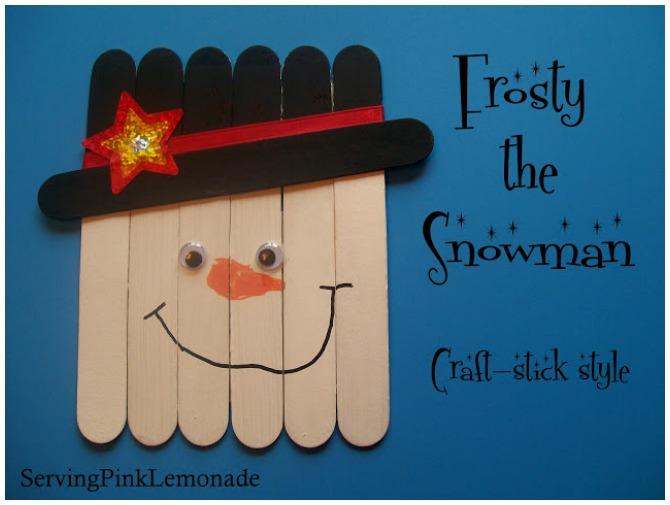 Frosty Snowman Popstick