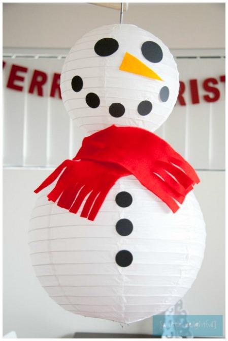 Lantern Snowman Craft