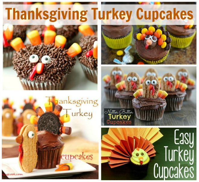 Thanksgiving Turkey Cupcakes