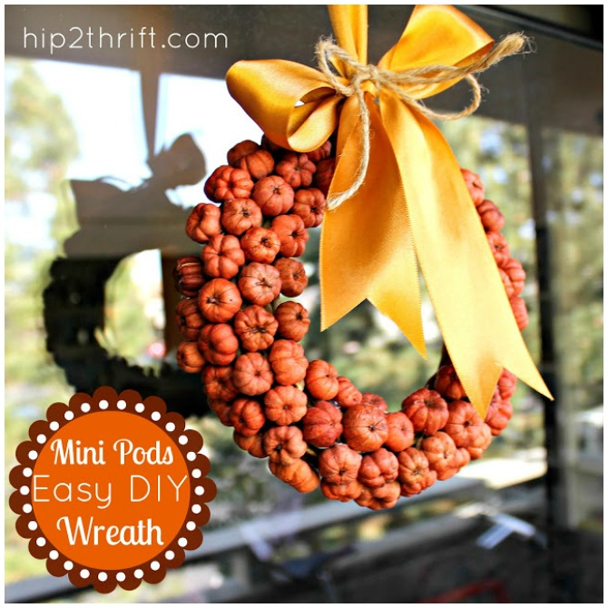 Pods Thanksgiving wreath
