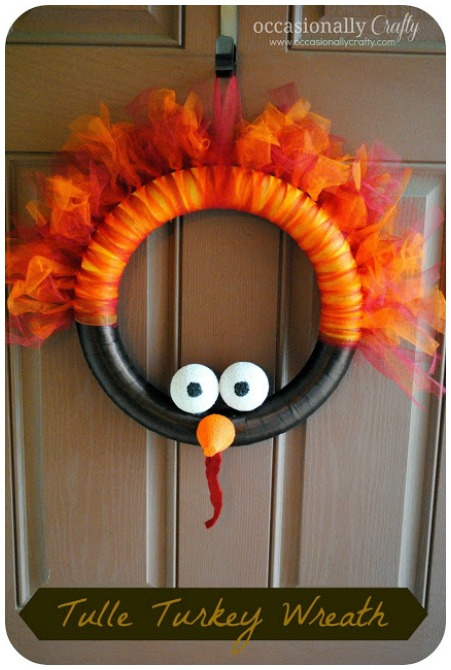 Tulle Turkey Wreath