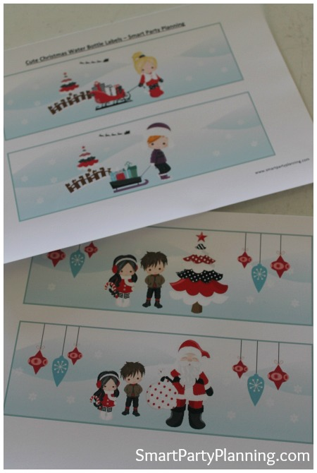 Christmas Water Bottle Labels