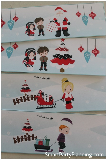 Cute Christmas Water Bottle Labels