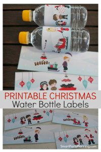 Printable Christmas Water Bottle Labels