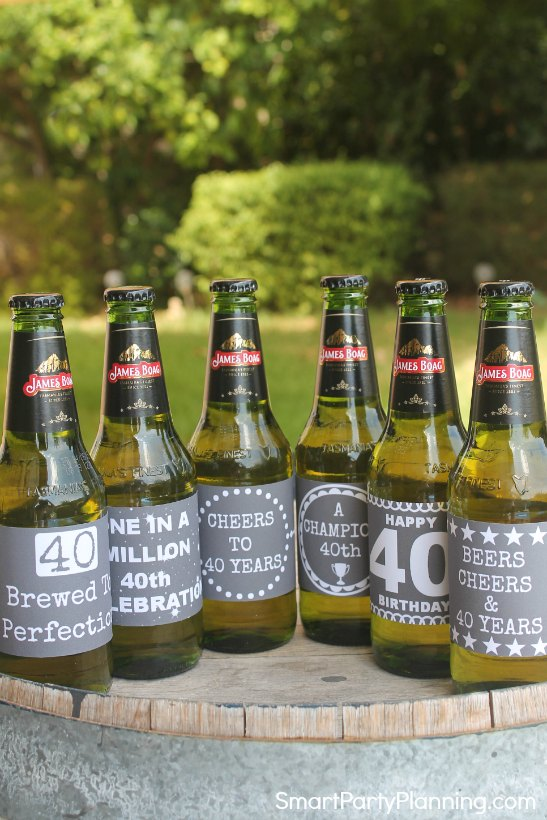 picture regarding Printable Beer Labels referred to as 40th Birthday Beer Wine Printable Labels