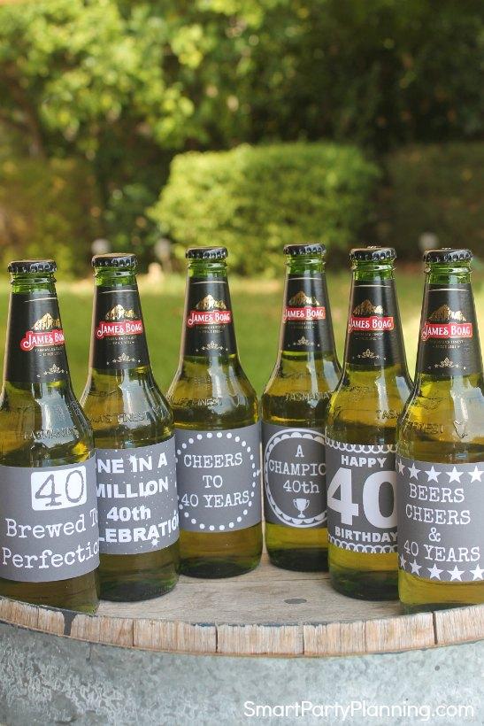 picture regarding Printable Beer Labels referred to as 40th Birthday Beer Wine Printable Labels