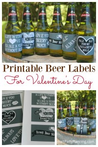"""Say """"I Love You"""" with beer! DIY printable beer labels are absolutely perfect for Valentine's day. As far as gift ideas go, this one is a winner for the boyfriends and husbands. With some special love sayings (especially for beer), you can't go wrong with this DIY gift."""