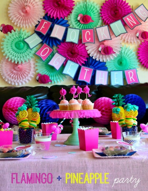 Flamingo and Pineapple Party