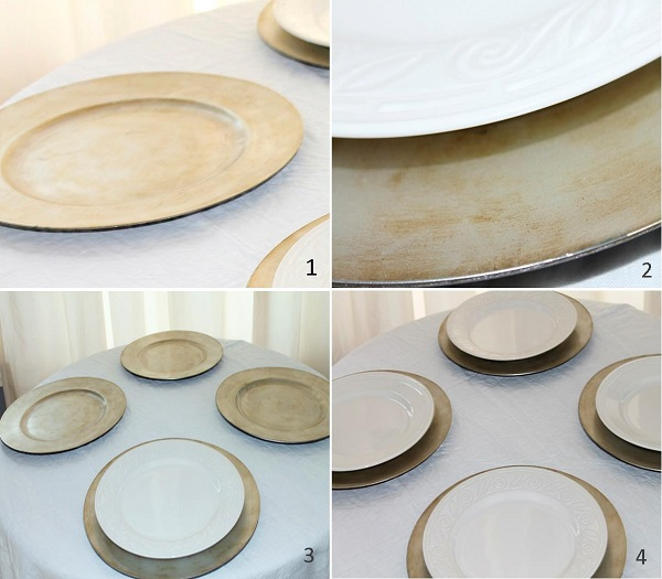 Easter table crockery