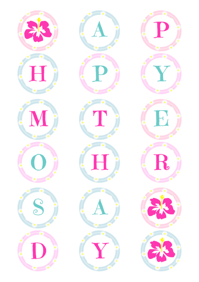 photo relating to Mother's Day Printable referred to as Moms Working day Banner