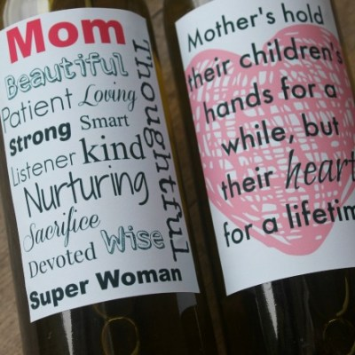 The Most Heartfelt Printable Mother's Day Wine Labels