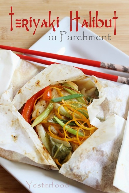 Teriyaki Halibut in Parchment