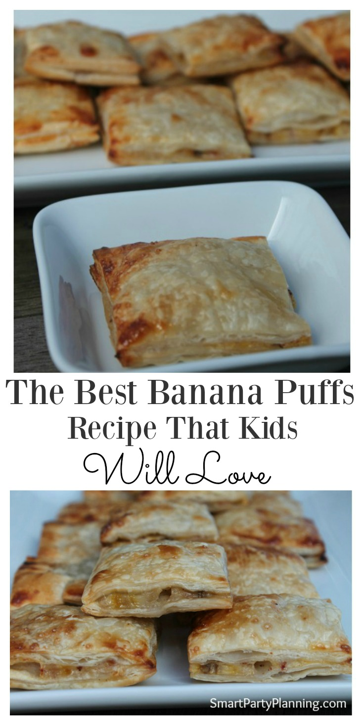 Puff pastry banana puffs are not only delicious, but incredibly easy to make. Crunchy on the outside and soft banana on the inside, the kids are going to love them. Easy to make whilst baking with the kids. This recipe will be a winner with the family.