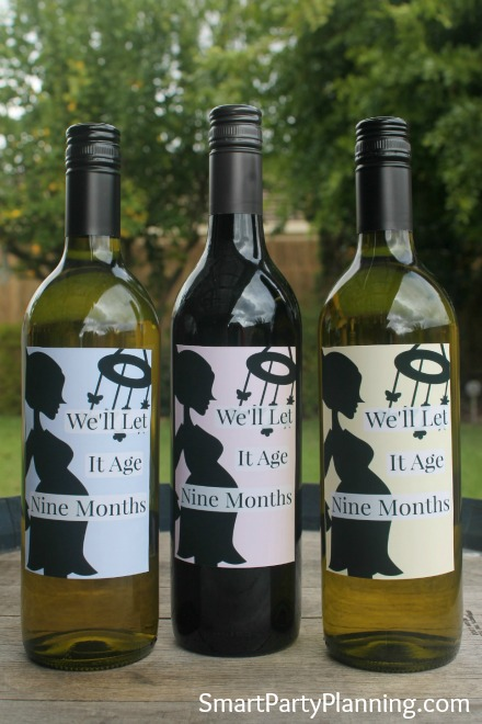 Baby shower wine label printables