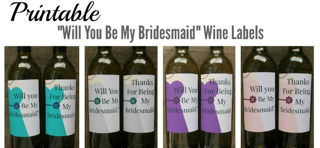 Bridesmaid Wine Labels