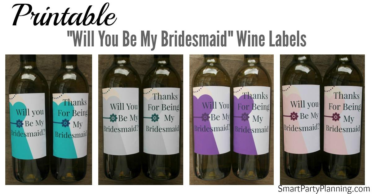 Bridesmaid Wine Labels Facebook