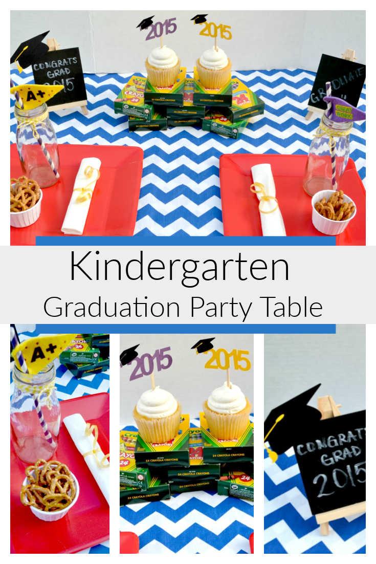 Fun Kindergarten Graduation Party Table