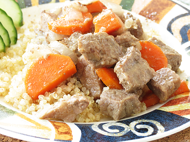 Homemade Beef Stew with carrots and onions I Smart Party Planning
