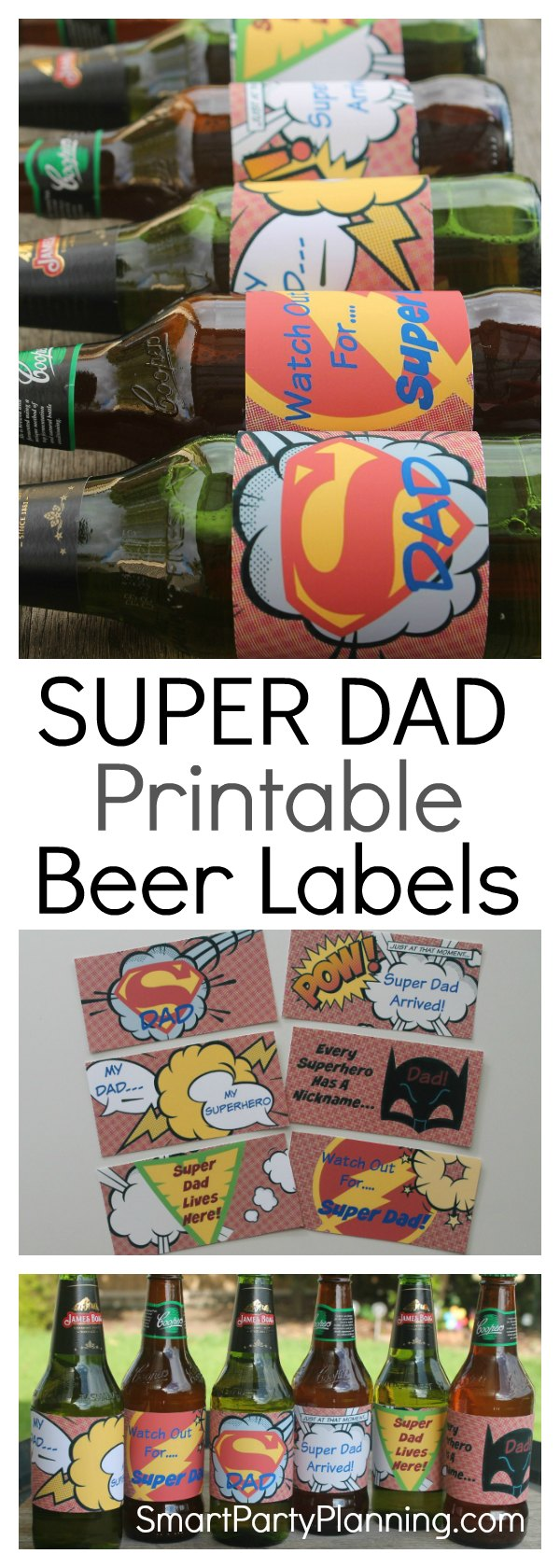 For dad's that love their beer, a pack of beer covered with superhero printables is going to be an awesome gift.  Whether you are looking for Father's day or birthday gift ideas, this one will be a favourite. Whether it's a gift from the kids, or you want to give it to your own dad, he is not going to be disappointed.  Make sure you grab the freebie too!