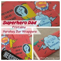 Superhero Dad Printable Hershey Bar Wrappers