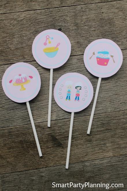 Printable Bakers Party Circles