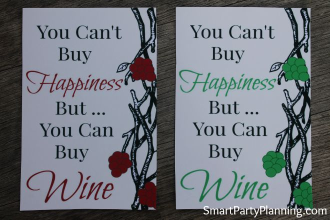 You cant buy happiness wine labels