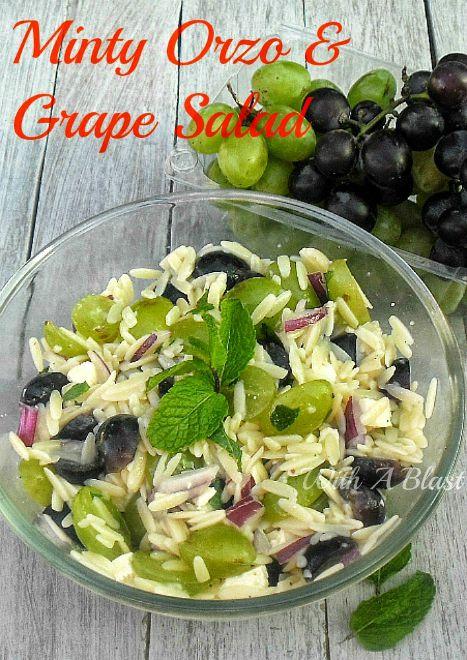 Minty Orzo and Grape SaladP