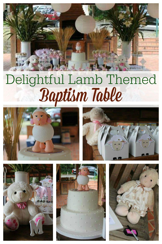 Delightful Lamb Baptism Table