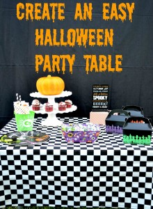 Halloween Party Table