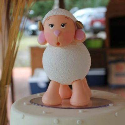Delightful Lamb Themed Baptism Party
