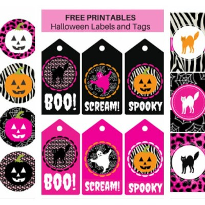 Free Printable Halloween Labels and Tags