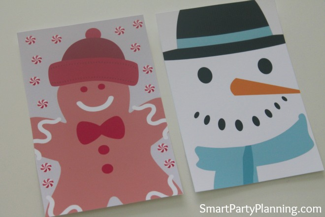 Printable Gingerbread Man & Snowman Wine Labels