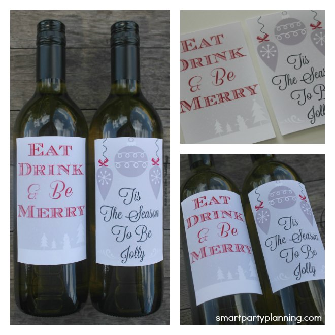 Printable Christmas Wine Labels