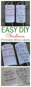 The perfect way to create festive cheer is with some DIY Printable Christmas wine labels. Whether you use for entertaining or for gifts, the labels will delight. Easy to use and quick to create, this is an awesome DIY Christmas project.
